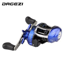 DAGEZI 8.1:1 Ratio Dual Brake System Baitcasting Reel 8kg Drag Power 12+1 BB Lure Fishing Reel for Saltwater Fishing Wheel