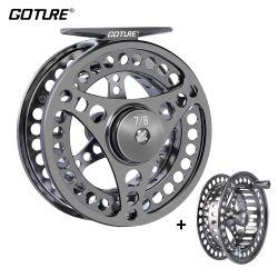 Goture 3/4 5/6 7/8 9/10 WT Fly Fishing Reels CNC-machined Large Arbor Fly Reel 2+1BB 1:1 For Trout Fishing Accessories