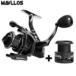 Mavllos Carp Fishing Spinning Reel 15BB Speed Ratio 4.7:1 1000 2000 3000 7000 Extra Spool Metal Saltwater Boat Fishing Reel