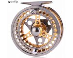 Sougayilang5/6 Fly Fishing Reel Large Arbor 2+1 BBLeft/Right Hand Coil Die Casting Aluminium Alloy Spool Fly Reel Fishing Tackle